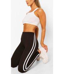 superzachte leggings met dubbele zijstreep, zwart