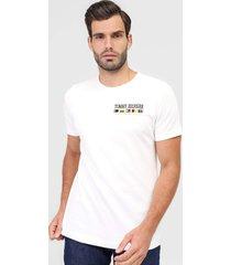 camiseta tommy hilfiger bordada branca
