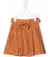 bonpoint floral-print tie-waist skirt