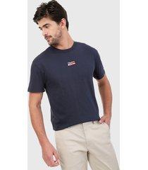 camiseta azul navy tommy jeans