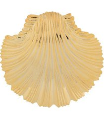 atu body couture oversized shell earrings - gold