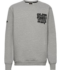 military non brand crew sweat-shirt trui grijs superdry