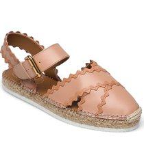 glyn sandaletter expadrilles låga rosa see by chloé