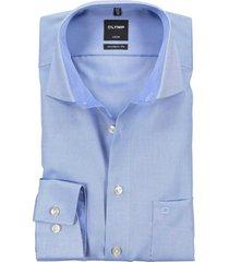 olymp luxor modern fit shirt l.blauw structuur non iron