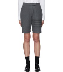 four bar cotton bermuda shorts