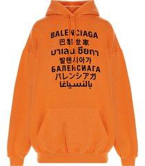 balenciaga languages sweater