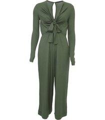 macacã£o oh, boy! pantacourt recorte verde - verde - feminino - viscose - dafiti