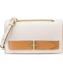 zac zac posen women's brigette leather crossbody bag - rose