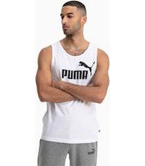 essentials tank top, wit, maat s | puma