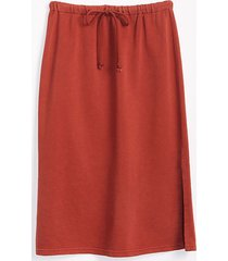 lou & grey cool terry drawstring midi skirt