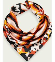 scotch & soda printed scarf