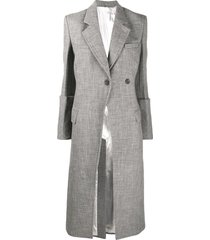 peter do oversize-cuffs tailored coat - grey