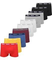 kit 10pçs cueca mash boxer logo preto/azul/branco