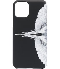marcelo burlon county of milan wings-print iphone 11 pro case - black