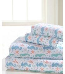 universal home fashions seahorse full sheet set bedding