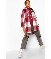 brushed flannel shirt, berry