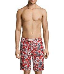 baja forte floral-print swim trunks