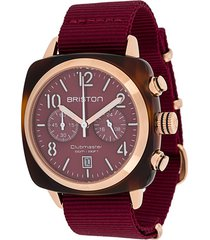 briston watches clubmaster classic 40mm watch - red