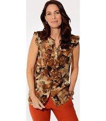 blouse mona bruin::terracotta