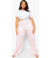 plus gestreepte woman pyjama, baby pink