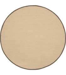 safavieh natural fiber maize and brown 4' x 4' sisal weave round area rug