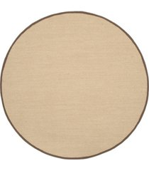 safavieh natural fiber maize and brown 4' x 4' sisal weave round rug