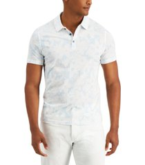 alfani men's regular-fit floral-print polo shirt, created for macy's