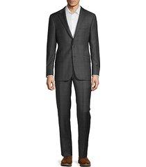 milburn iim series t regular-fit wool check suit