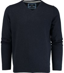 basefield donkerblauwe v-hals pullover 219013879/613
