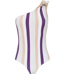 amir slama one shoulder swimsuit - pink