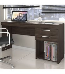 mesa para escritório office 2 gavetas malbec - notavel