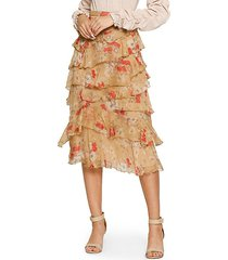 brigette tiered ruffled skirt