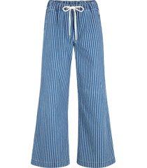 pantaloni a palazzo elasticizzati con cintura e cinta comoda (blu) - bpc bonprix collection