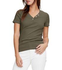 women's michael stars kiana short sleeve henley t-shirt