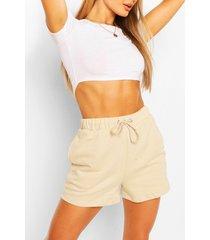 high waist jersey sweat shorts, sand