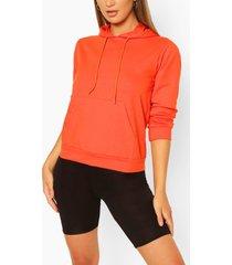 hoodie met zakdetail, oranje