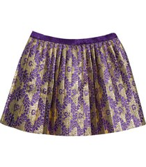 gucci pleated skirt with monogram