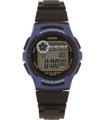 reloj azul-negro casio