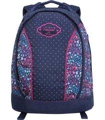 mochila calu azul flores mujer head