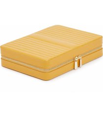 wolf large maria zip jewelry case - yellow