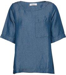 blouse short-sleeve blouses short-sleeved blå gerry weber edition