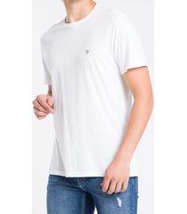 camiseta mc regular logo flame reat gc - branco - p