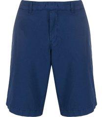 fay straight leg chino shorts - blue