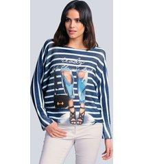 trui alba moda blauw::offwhite