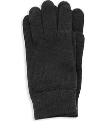 portolano men's ribbed merino wool gloves - charcoal