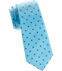 dot silk & linen tie