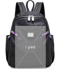 mochilas/ mochila impermeable de las mujeres de nylon-negro