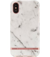 richmond & finch white marble case for iphone x and xs