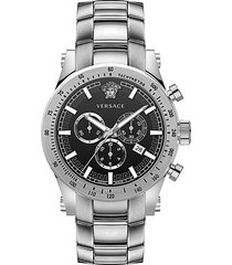 chrono sporty stainless steel chronograph watch