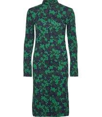 d2. splendid jaquard jersey dress jurk knielengte groen gant